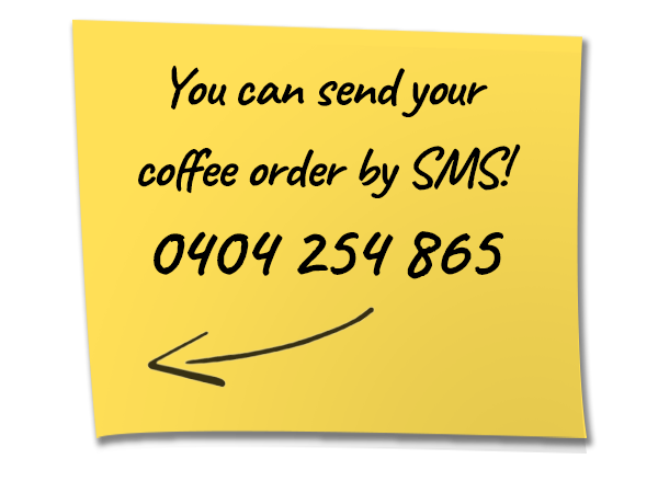 Send Your Coffee Order By SMS