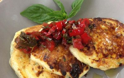 Cottage Cheese Pancakes with Roasted Capsicum Salsa