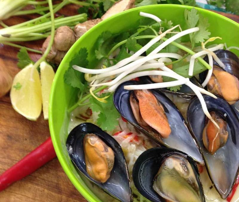 Coconut & Lemongrass Mussels with Noodles