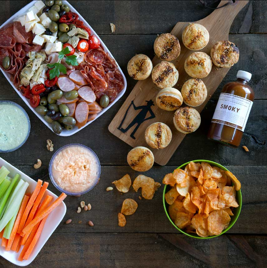 A selection of good food on a platter and bowls
